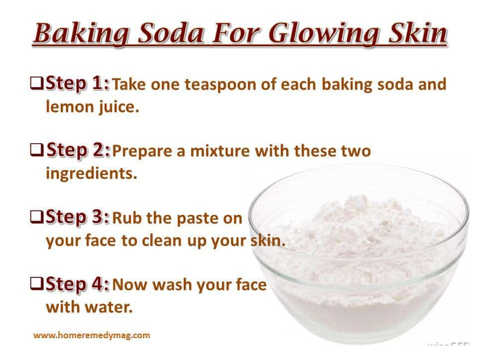 Baking soda for glowing skin