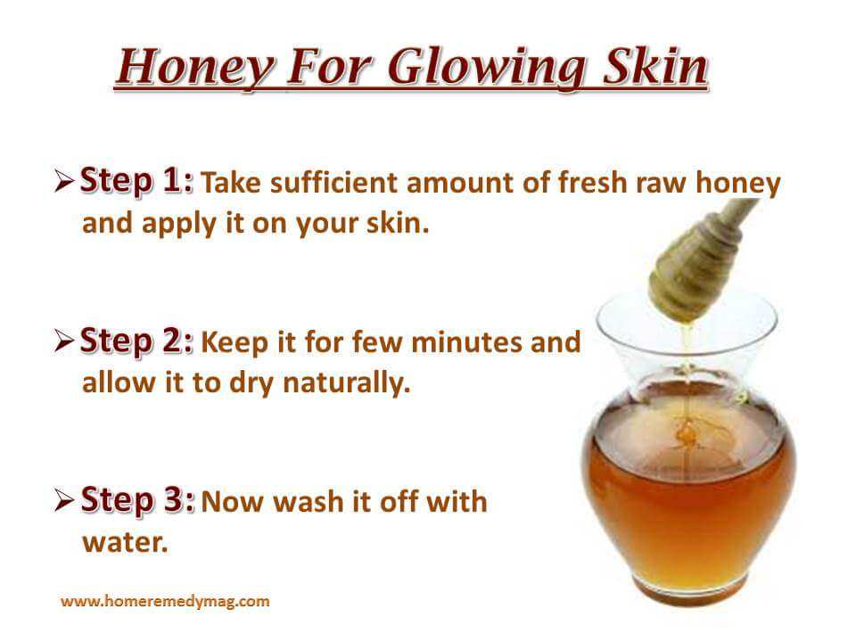 Honey for glowing skin