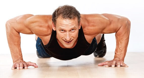 push up to eliminate lower Back Fat